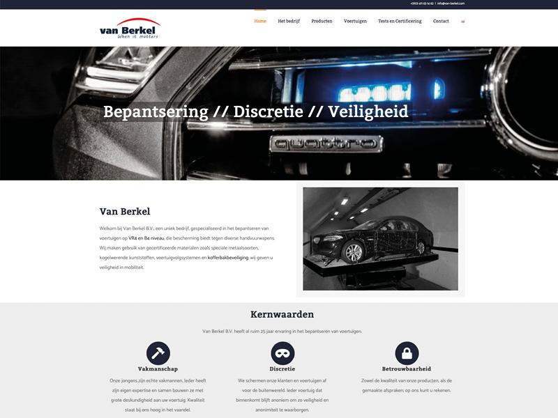 Van Berkel Bepantsering Olafs grafische vormgeving webdesign eindhoven van Berkel