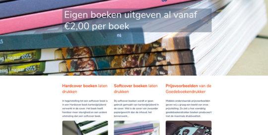 Olafs grafische vormgeving webdesign Eindhoven Goede Boeken Drukker