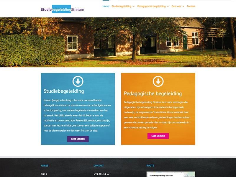 Olafs grafische vormgeving webdesign eindhoven studiebegeleiding stratum
